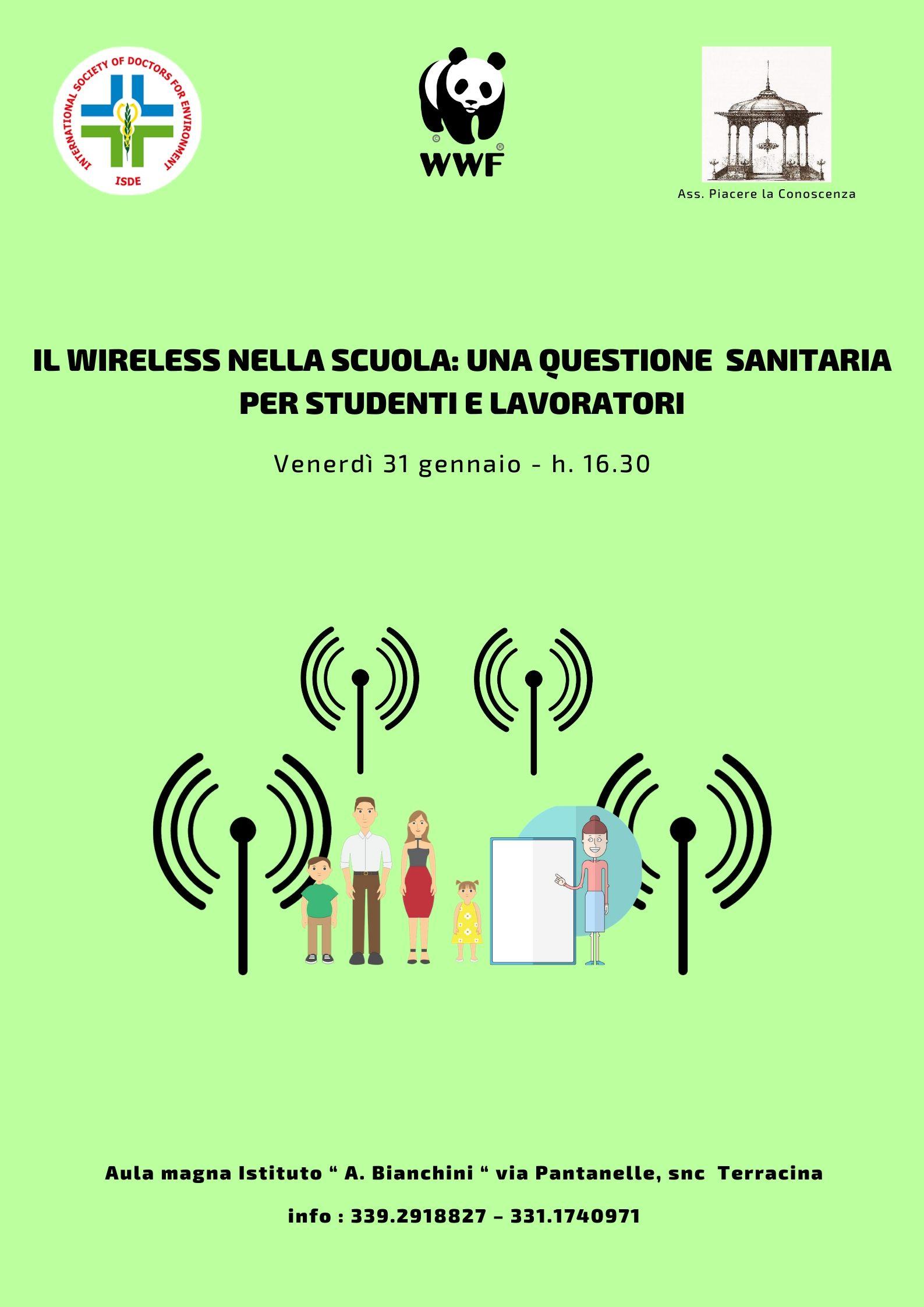 Locandinda convegno wireless a Terracina