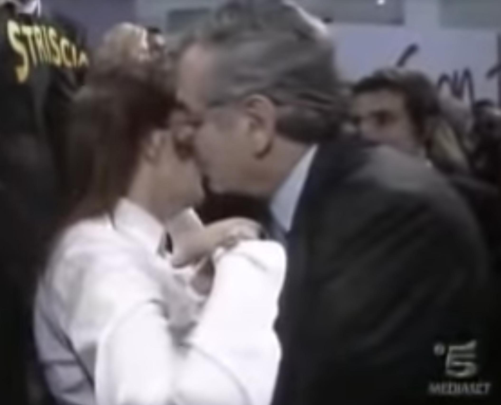 Renata Polverini e Vincenzo Zacchero in un frame del video per cui RTI dovrà risarcire l'ex sindaco per 50mila euro