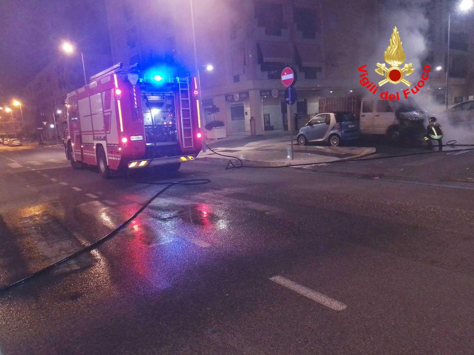 Incendio in Via Montenero, Latina