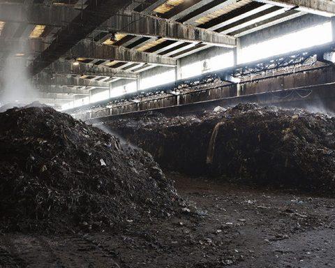Un esempio di impianto di compostaggio (foto d'archivio)