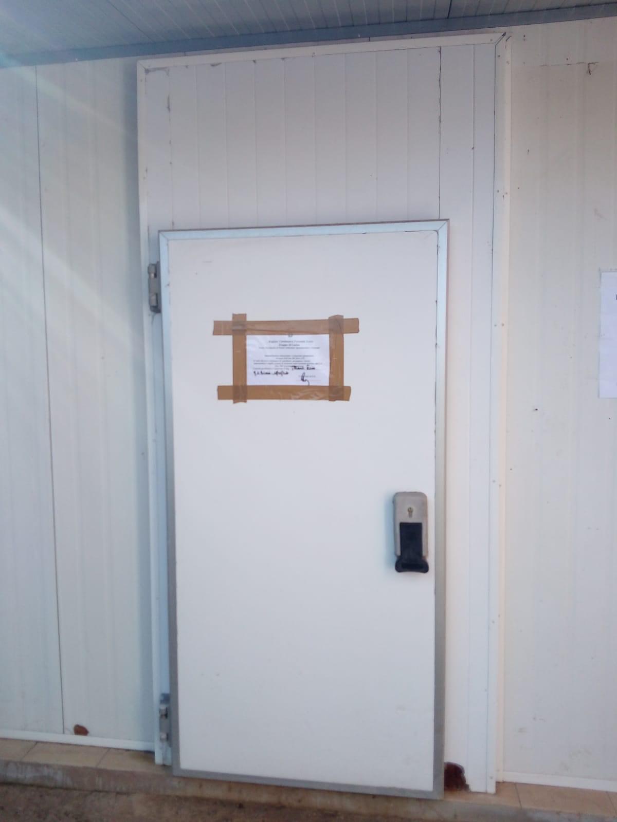 cella frigorifera sequestrata