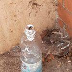 una bottiglia per fumare crack alle autolinee di Latina