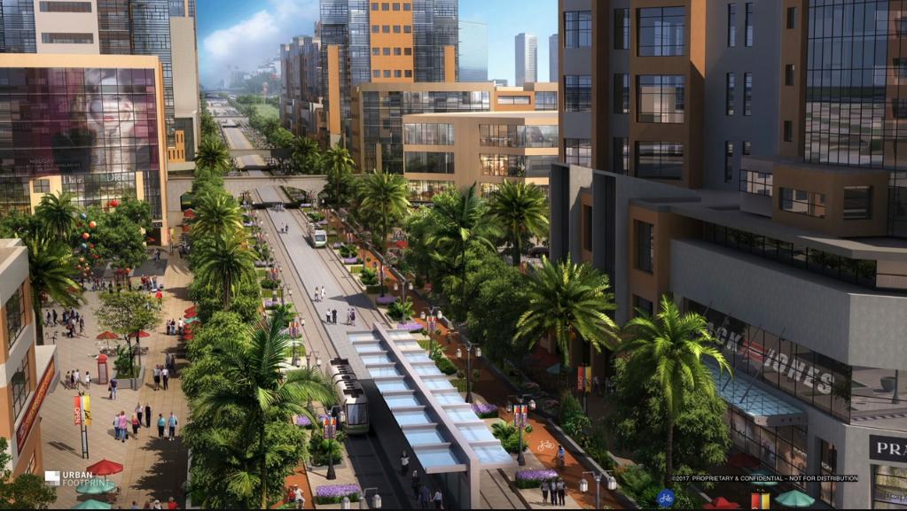 verde urbano e trasporto pubblico