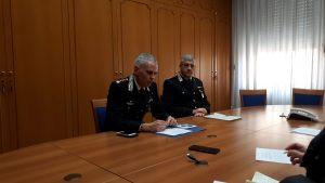 Il Comandante Provinciale dei Carabinieri Gabriele Vitagliano e il Comandante del Nucleo Investigativo Paola Befera