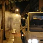 Sanificazione delle strade a Palermo