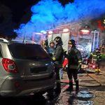 L'Auto coinvolta da un principio di incendio al Porto di Formia