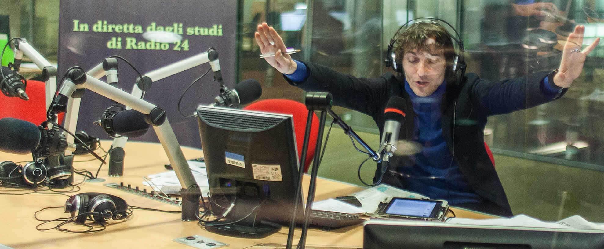 Giuseppe Cruciani conduttore del programma radiofonico La Zanzara