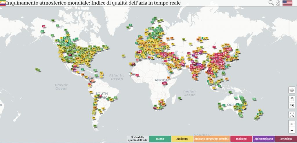 inquinamento atmosferico mondo