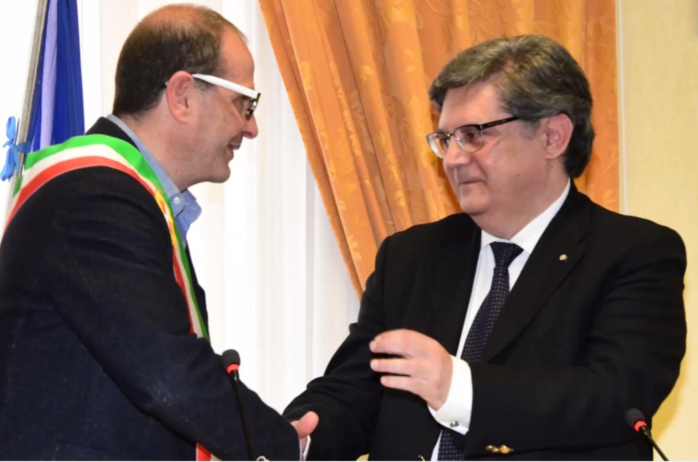Cosimino Mitrano e il dott. Fabio Ricci