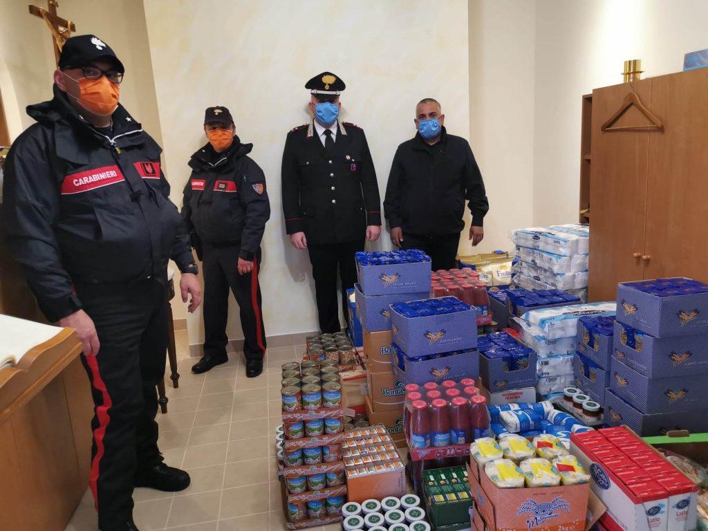 Donazione spesa Carabinieri Gaeta