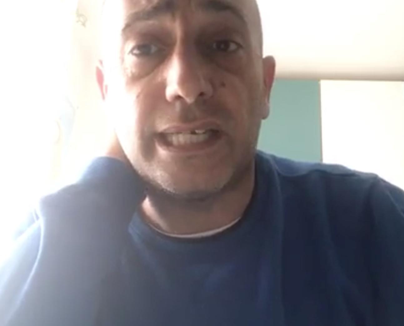 Gerardo Stefanelli, in un frame della diretta video
