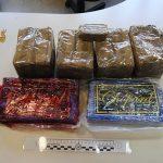 La droga sequestrata venerdì 17 aprile dalla Squadra Mobile di Latina