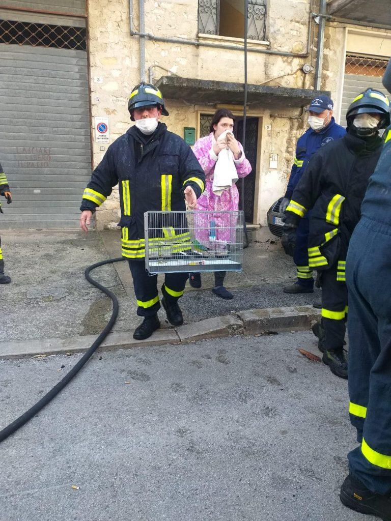 incendio a Fondi