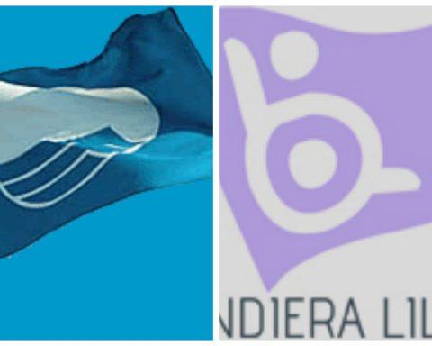 Bandiera blu e bandiera lilla