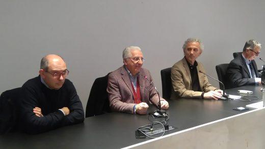 Da sinistra tre membri della Giunta del capoluogo pontino: l'assessore Emilio Ranieri, l'assessore Francesco Castaldo e il sindaco Coletta (un'immagine d'archivio)