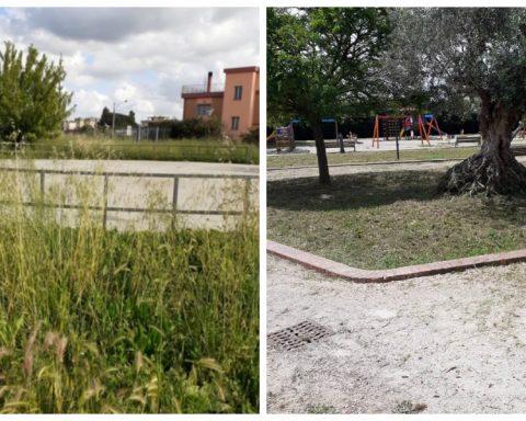 Parco Faustinella prima e dopo