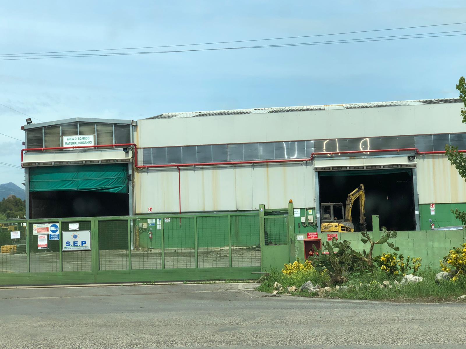 Sep di Pontinia nell'area industriale di Mazzocchio
