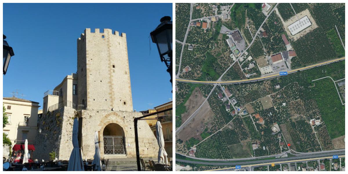 Castellone (Formia) e l'area della lottizzazione in Via Pietra Erta