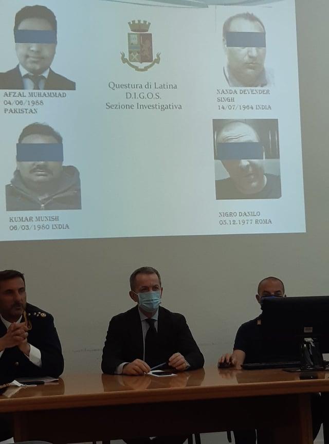 Conferenza Stampa alla Questura di Latina