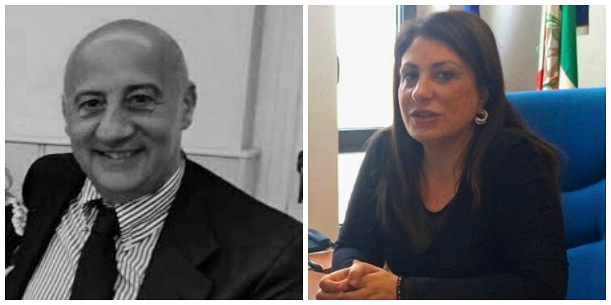 Il Commissario Giacomo Mignano e il Presidente del Tribunale di Latina Caterina Chiaravalloti