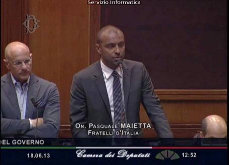 Pasquale Maietta, alla Camera dei Deputati nella scorsa legislatura