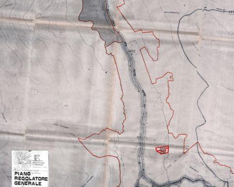 Planimetria dell'isola ecologica a Campodimele
