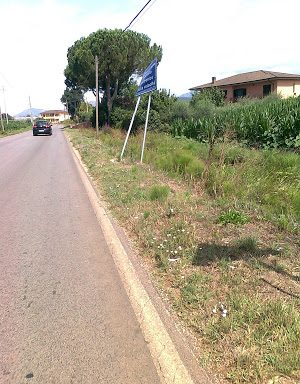 Strada Provinciale Cotarda (Pontinia, foto dal blog di Giorgio Libralato pontiniaecologia