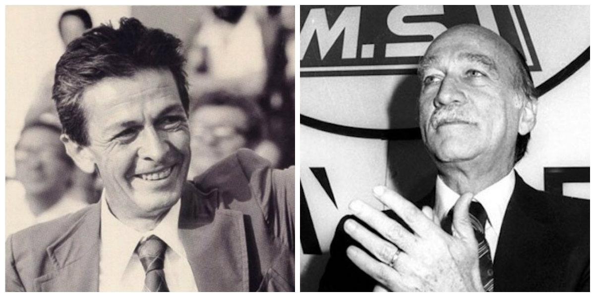 Enrico Berlinguer e Giorgio Almirante