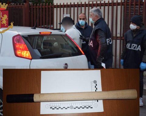 Il momento dell'arresto di Salvatore D'Angiò avvenuto lo scorso marzo