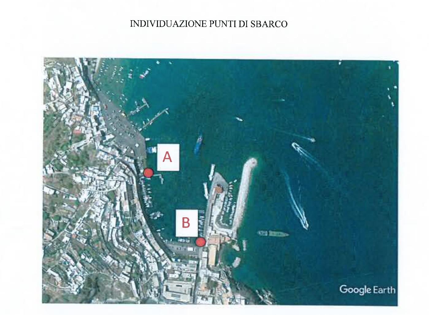 Individuazione punti di sbarco decisi dall'amministrazio di Ponza