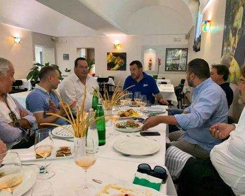 Matteo Salvini a pranzo presso il noto ristorante di Terracina Il Caminetto