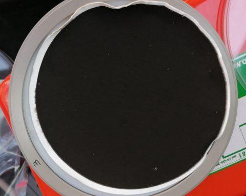 Filtro del campionatore installato ai depositi della Loas srl ad Aprilia