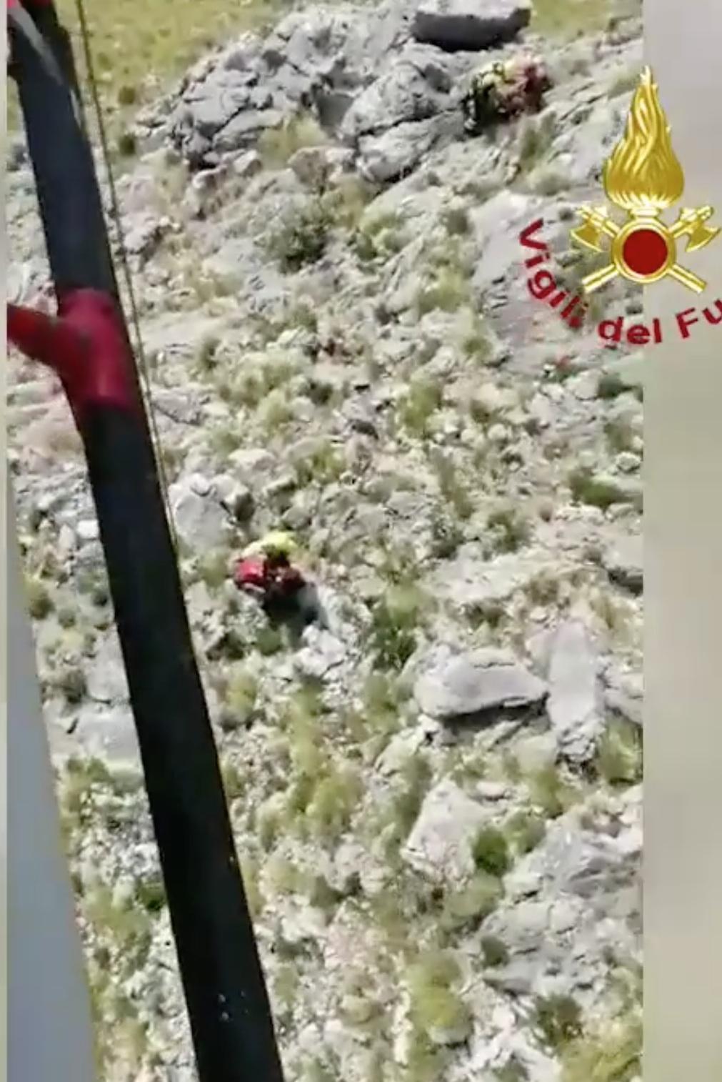 Gli escursionisti in difficoltà sul Monte Redentore a Formia