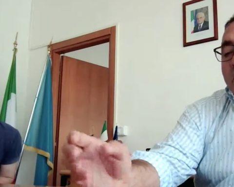 Il Direttore dell'Asl di Aprilia Belardino Rossi e il Sindaco di Aprilia Antonio Terra
