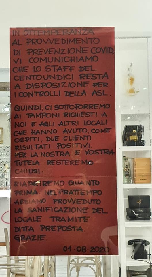 Il messaggio dello staff del Centoundici