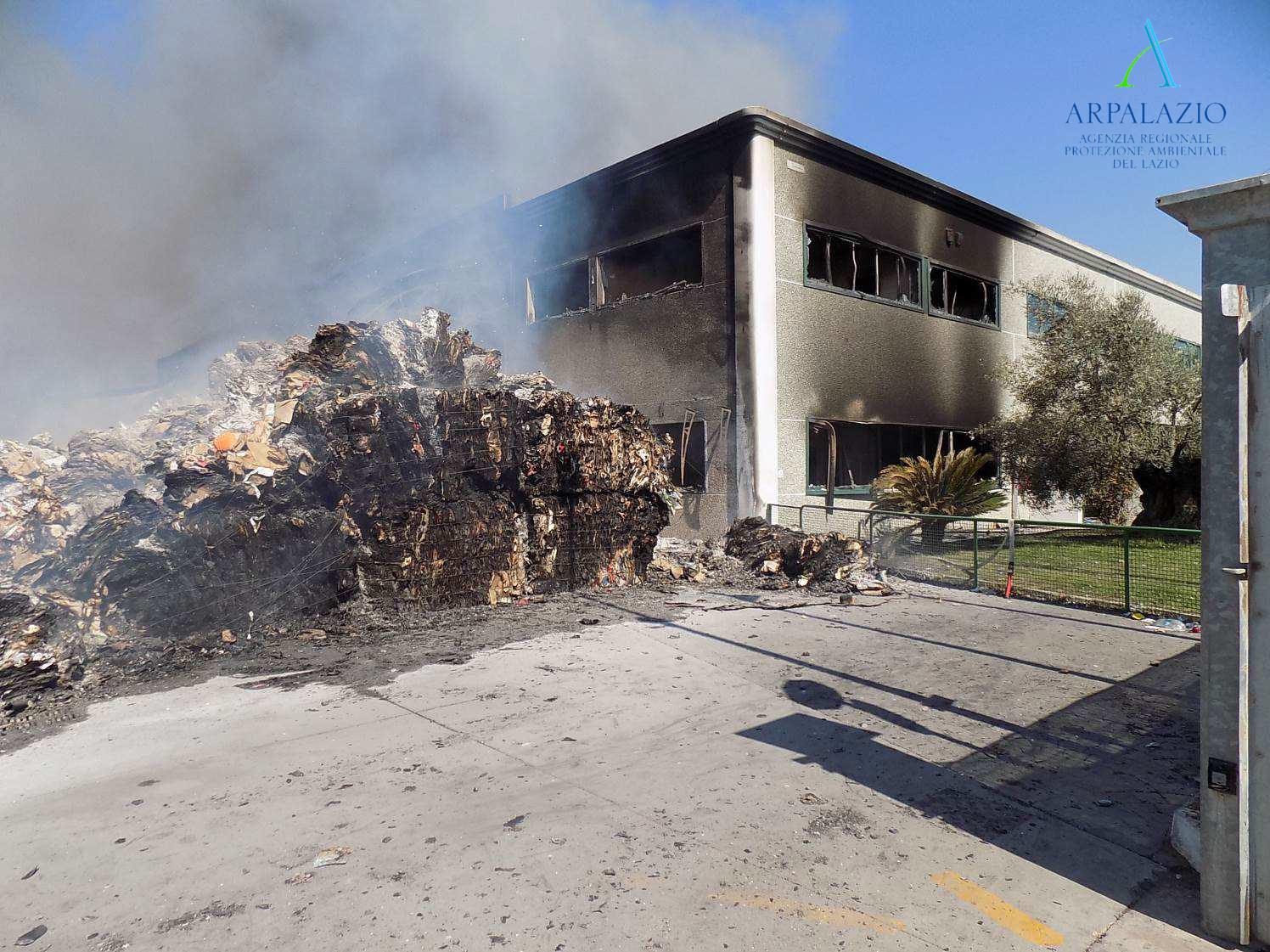 Impianto Loas dopo l'incendio del 9 agosto