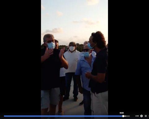 Un momento della manifestaizone di Rio Martino