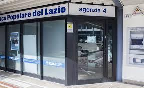 La filiale della Banca Popolare del Lazio al Centro Morbella, Latina