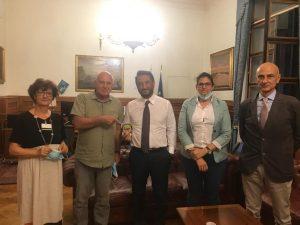L'incontro avvenuto il luglo scorso al MiT tra Cancelleri e il Comitato No Corridoio Roma-Latina