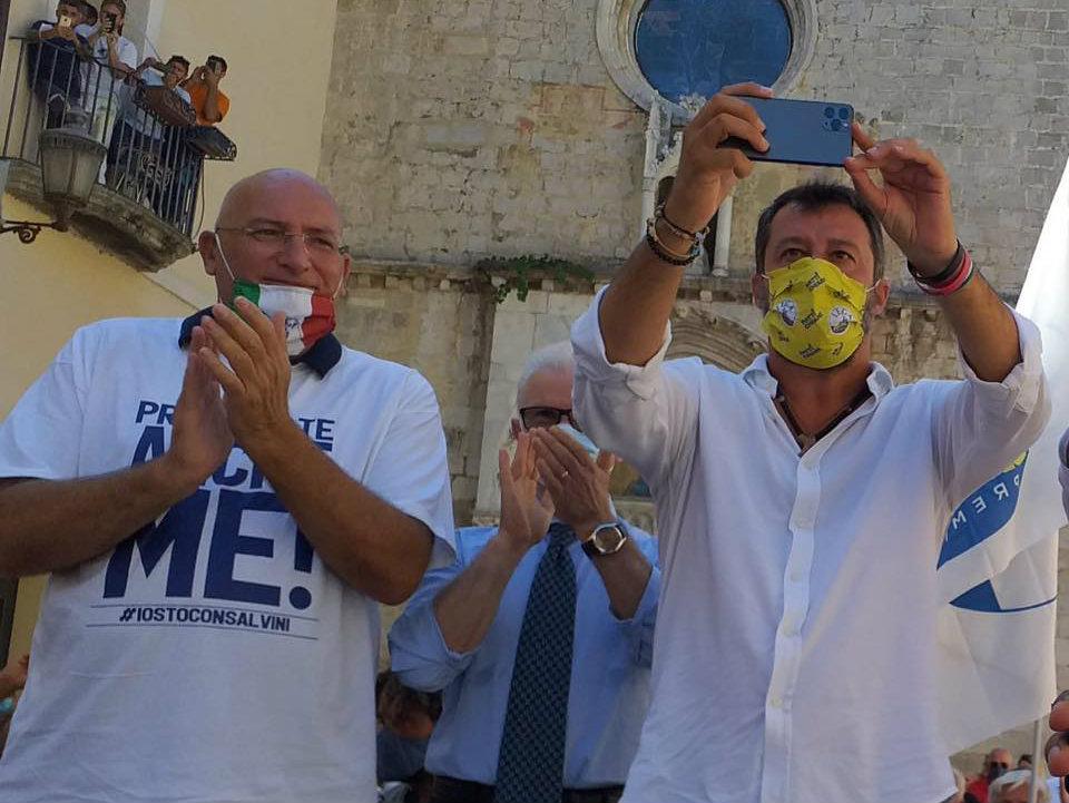 Matteo Adinolfi e Matteo Salvini