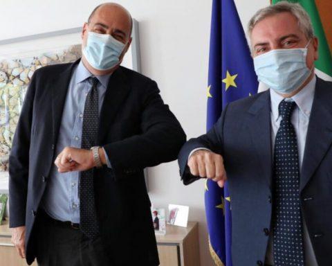 Nicola Zingaretti e Dario Scannapieco