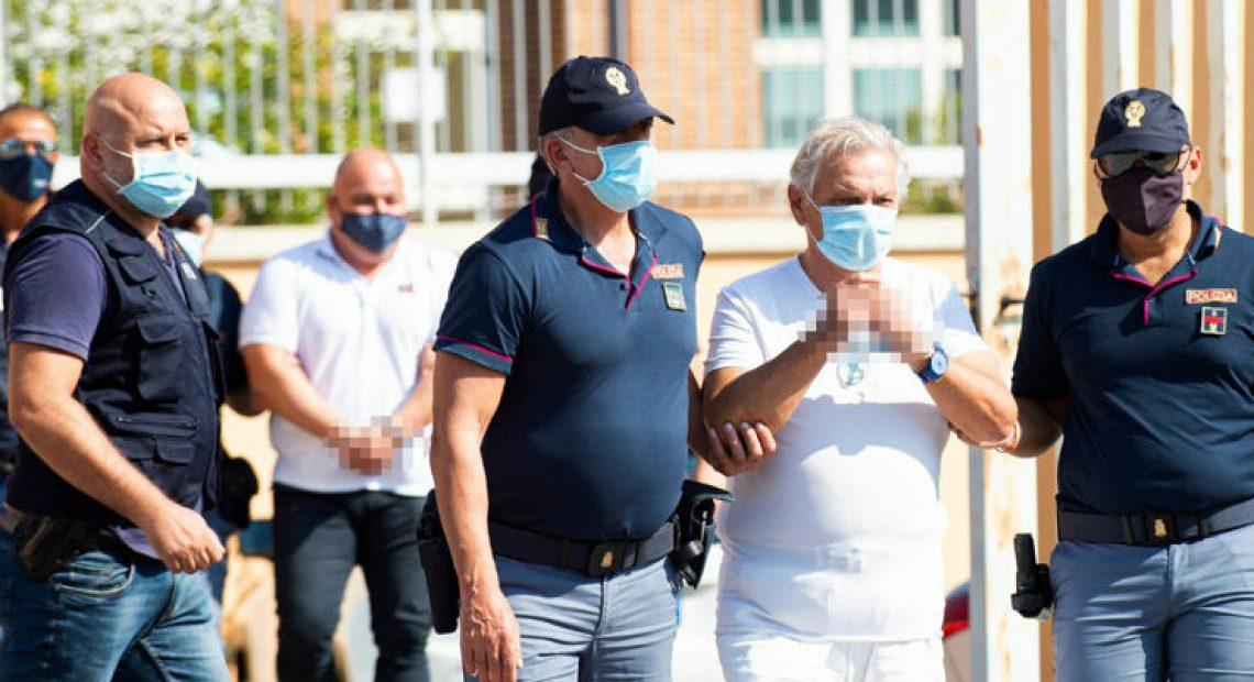 Pasquale Pirolo al momento dell'arresto