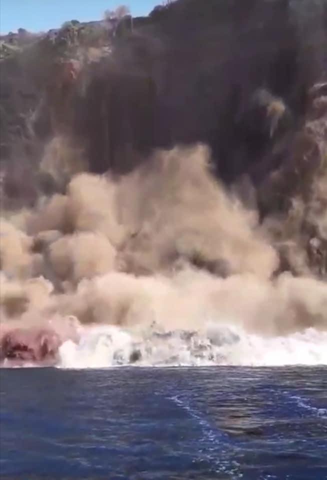 Il crollo a Moggio di Terra, Ventotene
