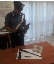 Il materiale sequestrato al giovane di 20 anni a Gaeta