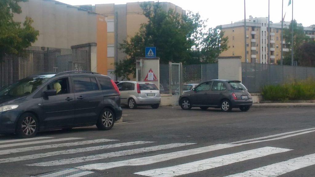 L'ingresso all'Ex Istituto Sani-Salvemini