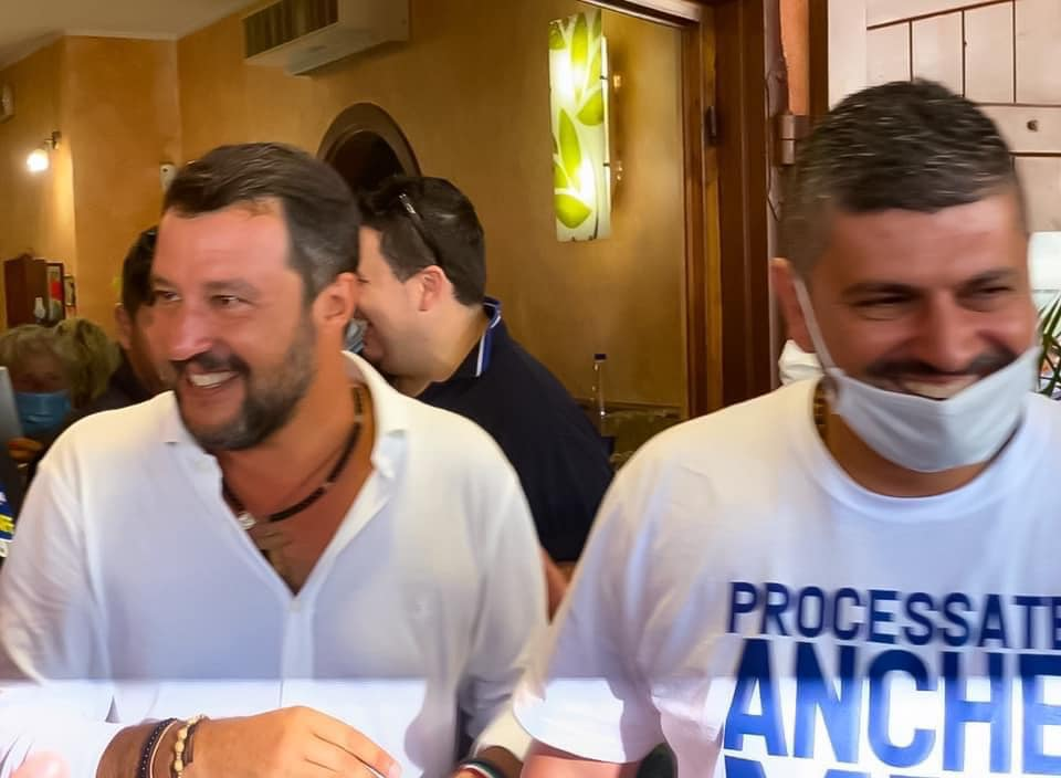 Matteo Salvini e Francesco Zicchieri