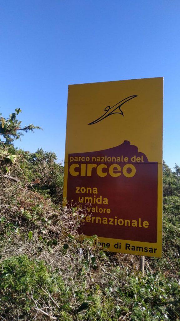 Segnaletica Parco Circeo