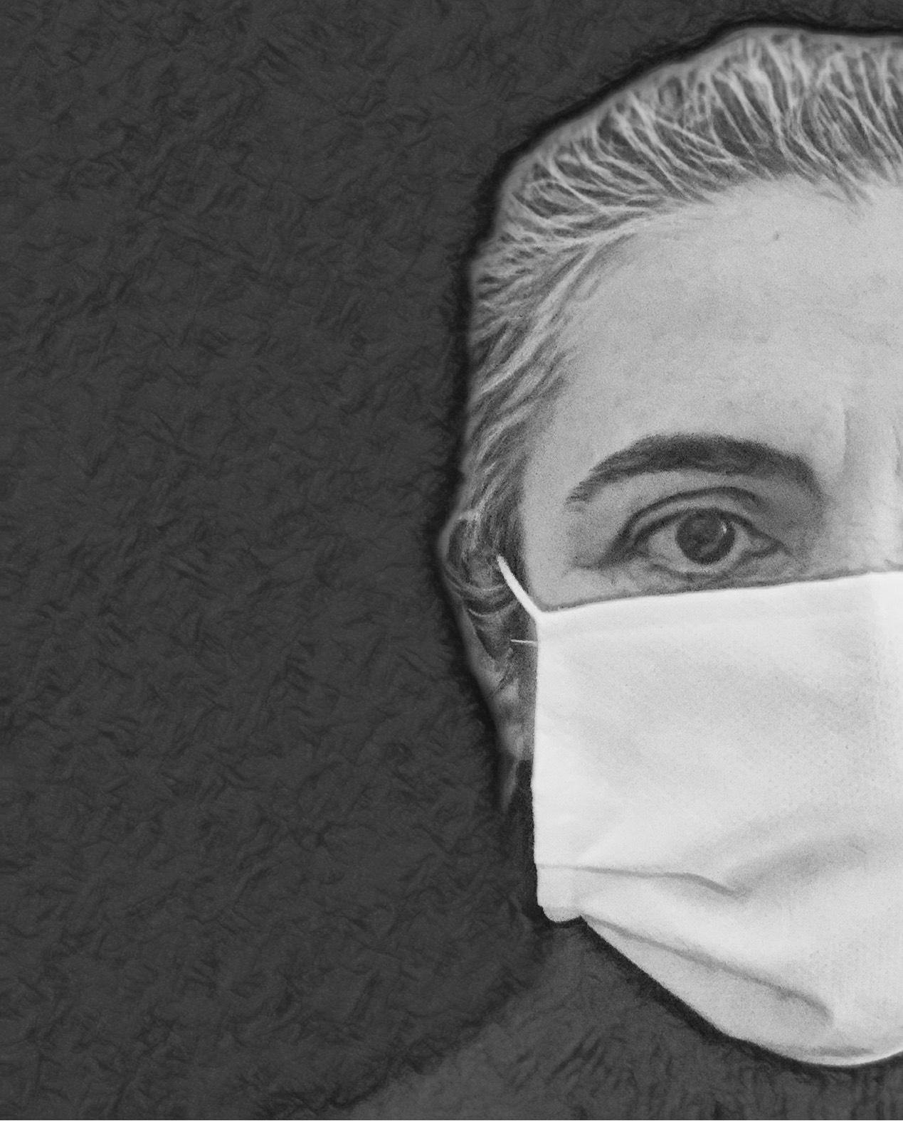 Lisa Tibaldi Grassi con mascherina
