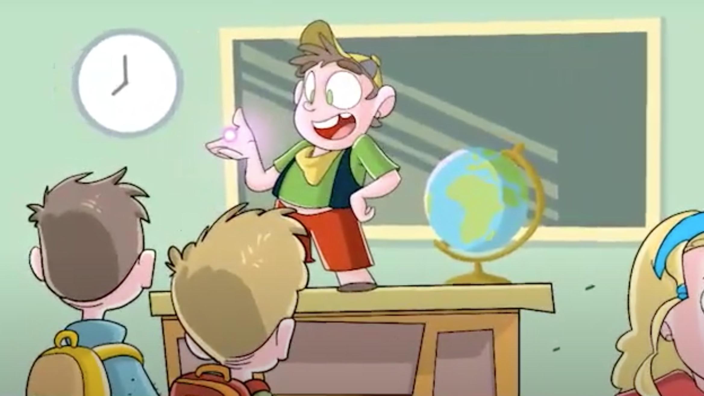 Un'immagine tratta dal cortometraggio Il piccolo soccorritore