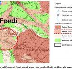Area individuata nel Comune di Fondi inquadrata su carta provinciale dei siti idonei allo stoccaggio